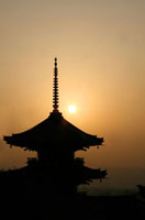 The Pagoda at Kiyomizudera at sunset