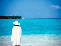 White sand beach and Lagoon