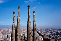 Gaudi's Sagrada Familia,Close Up