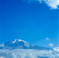 Mount Kilimanjaro and clouds