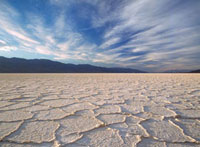 Looking across the saltpans at Badwater