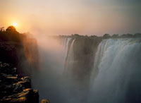 Victoria Falls at dusk