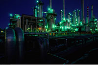 Oil Refinery Edmonton 20025000696  写真素材・ストックフォト・画像・イラスト素材 アマナイメージズ