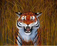 Illustration of Tiger in Tall Grass