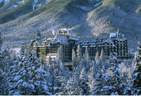 Banff Springs Hotel in Winter Banff National Park