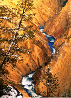 Yellowstone River Grand Canyon of the Yellowstone Yellowston 20025010060| 写真素材・ストックフォト・画像・イラスト素材|アマナイメージズ