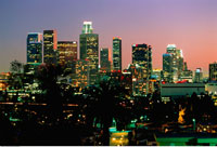 City Skyline at Night Los Angeles