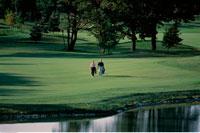 Mature Couple Golfing Richmond Hill