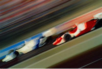 Blurred View of Formula Racing Vancouver