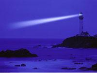 Pigeon Point Lighthouse at Night Near Half Moon
