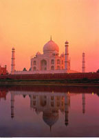 Taj Mahal at Sunset Agra