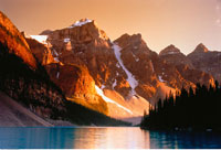 Moraine Lake and Rocky Mountains Banff National Park Alberta