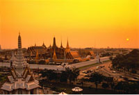 Overview of The Grand Palace at Sunset