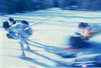 Blurred Ski Racing Alberta