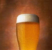 Close-Up of Glass of Beer