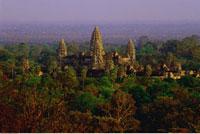 Overview of Landscape and Angkor Wat 20025052648| 写真素材・ストックフォト・画像・イラスト素材|アマナイメージズ