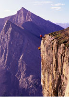 Mountain Climbers on Canadian Rockies Canmore