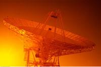 Satellite Dish at Jet Propulsion Lab at Sunset Goldstone