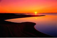 Sunrise Lagune de la Grande Entree Iles de la Madeleine Queb