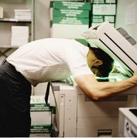 Man Photocopying His Face