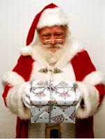 Santa Claus and Christmas Gift