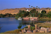 Nile River and Landscape Aswan