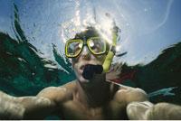 Man Snorkelling Underwater