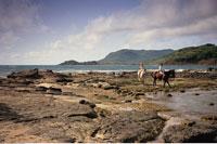 Couple Horseback Riding St. Lucia