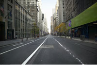 Empty Street New York City New York
