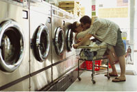 Couple in Laundromat