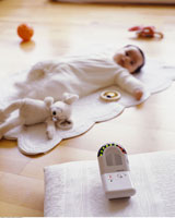 Baby Monitor and Baby Lying Down
