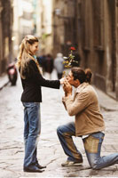 Man Proposing to Woman