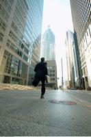 Businessman Rushing to Work