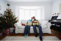 Couple on Christmas Morning