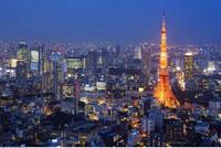 Shiodome Shiosite and Tokyo Tower