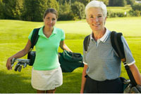 Mother and Daughter at Golf Course