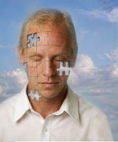 Man With Face as Jigsaw Puzzle