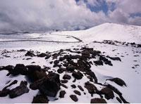 Snow on Mauna Loa Volcano
