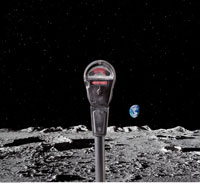 Parking Meter on the Moon