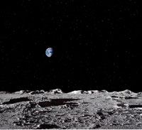 Earth Viewed from Moon