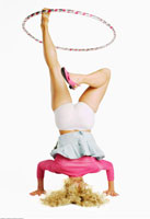 Woman Doing Headstand