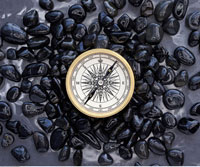 Compass and Black Stones
