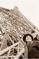 Woman by Eiffel Tower
