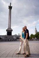 Couple in Trafalgar Square