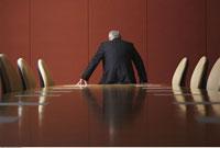 Businessman in Boardroom