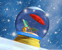 Snow Globe With Beach Chair And Umbrella