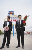 Men in Formal Wear by Sign