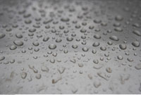 Close-up of Rain Drops on Glass