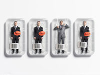 Businessmen in Packages