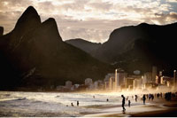 Ipanema Beach at Dusk